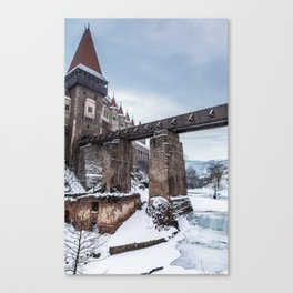 Fairytale Castle in the Snow Canvas Print