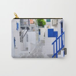 Beautiful Whitewashed Street Mykonos Greece Carry-All Pouch