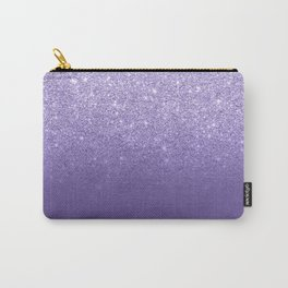 Modern ultra violet faux glitter ombre purple color block Carry-All Pouch