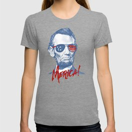 Abraham Lincoln Merica design - NYE of 4th July Clothing T-shirt