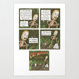 Chet Mustache Art Print