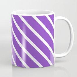 Lavender Purple Diagonal Stripes Coffee Mug