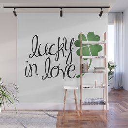 Lucky In Love   Four Leaf Clover Wall Mural