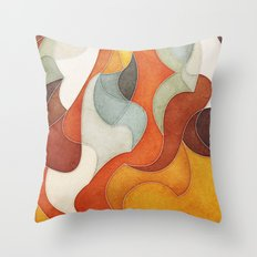 The Flow of Things Throw Pillow