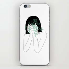 A little bit dissapointed in humanity / Illustration iPhone Skin
