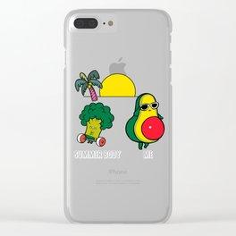 Avocado Summer Body Clear iPhone Case