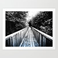 onward Art Prints featuring Onward by SmallIslandInTheSun