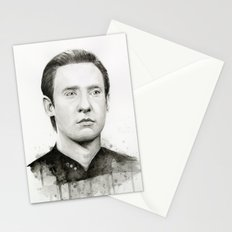 Data TNG Portrait Stationery Cards
