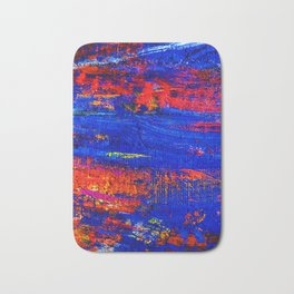 10 - Abstract Epic Colored Moroccan Artwork. Bath Mat