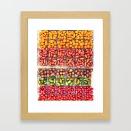 Farmers Market Haul Framed Art Print