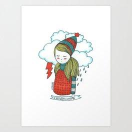 Between Clouds Art Print