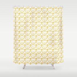Yellow Cat Pattern Shower Curtain