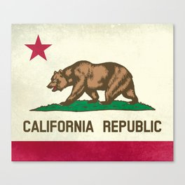 California Republic Flag Canvas Print