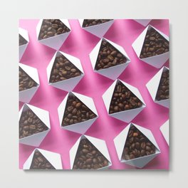 Pink Coffee Metal Print
