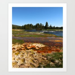 Firehole River Colors Art Print