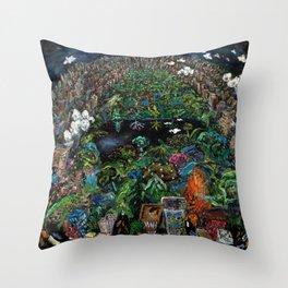 Central Park (oil on canvas) Throw Pillow