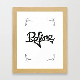 refine Framed Art Print