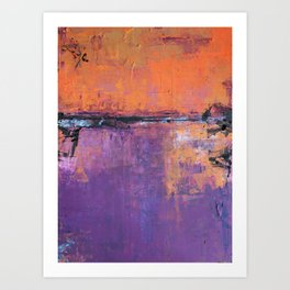 Poetic City - Urban Abstract Painting Art Print