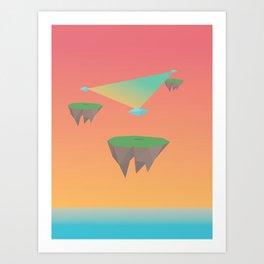 Crystal Islands in The Sky Art Print