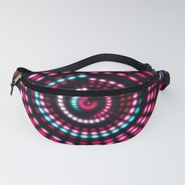 Colorful dance floor with several shining. Sound waves, Dance of lines and light. Fanny Pack