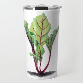 Red beet plant pencil drawn Travel Mug