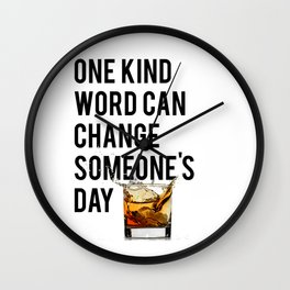 One Kind Word Can Change Someones Day Sign Inspirational Quote Motivational Quote Wall Clock