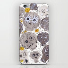 Inktober Sugar Skulls iPhone Skin