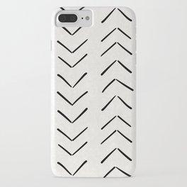 Mud Cloth Big Arrows in Cream iPhone Case
