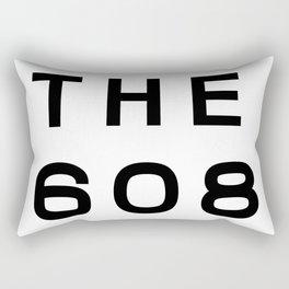 608 Wisconsin Area Code Typography Rectangular Pillow