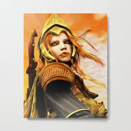 The Golden Champion Metal Print