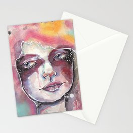 Deep space watercolor Stationery Cards