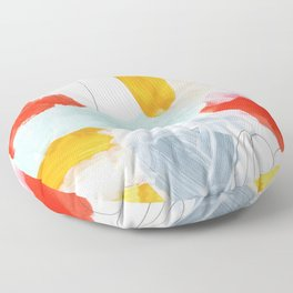 abstract painting XVI Floor Pillow