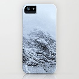 Letting go -  cold comfort in Glencoe iPhone Case
