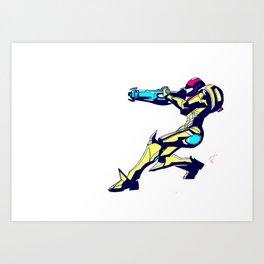 Samus Aran Color / Metroid Art Print