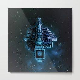 Leviathan BLUE / Keep on trucking Metal Print