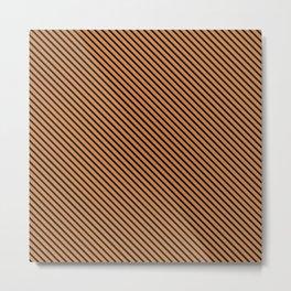 Topaz and Black Stripe Metal Print