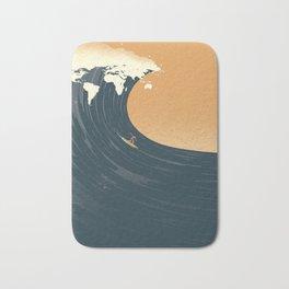 Surfing the World Bath Mat
