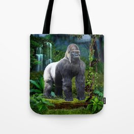 Silverback Gorilla Guardian of the Rainforest Tote Bag