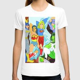 THE LADIES OF DC - Digital Ilustration - Supergirl - wall decor - pop art T-shirt