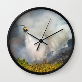 Barnett Fire Wall Clock