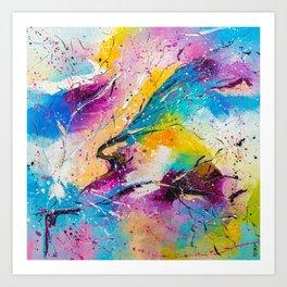 RAINBOW SPLASHES Art Print