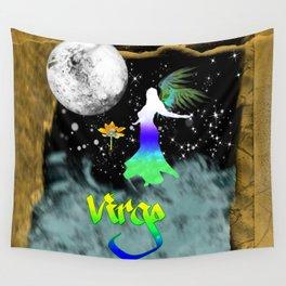 Virgo Birth Sign Wall Tapestry