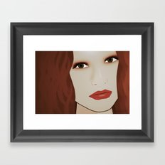 Red Head from Another Dream Framed Art Print