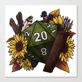 Ranger Class D20 - Tabletop Gaming Dice Canvas Print