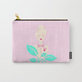 A girl with a top knot. Carry-All Pouch