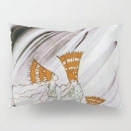 Three Princesses Amazed By Snowstorm Pillow Sham