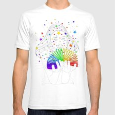 Rainbow Spring - Colors Decompressed White SMALL Mens Fitted Tee