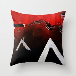 Organized Chaos Throw Pillow
