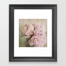 Pink Peonies Framed Art Print