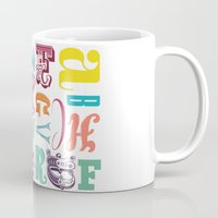 alphabet Mugs featuring ALPHABET  by HOPE ∴